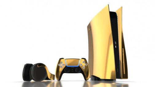 Si la PS5 blanca no te convence, siempre podrás hacerte con esta versión bañada en oro de 24K