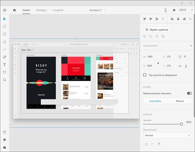 Adobe XD CC v41.1.12, Programa dedicado íntegramente al diseño y prototipado de aplicaciones web