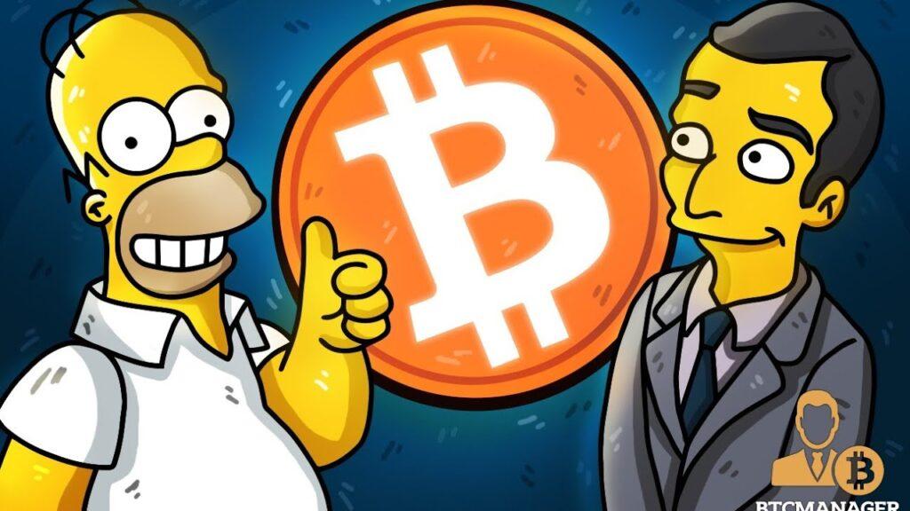 Bitcoin Llega A Springfield Un Episodio De Los Simpson Muestra El Precio De BTC Subiendo Hasta El Infinito 1024x576