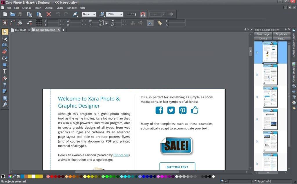 Xara Web Designer Premium 18.5.0.62892, Edición detallada de fotos, dibujo creativo y diseño profesional